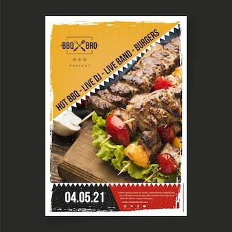 Modello di poster barbecue