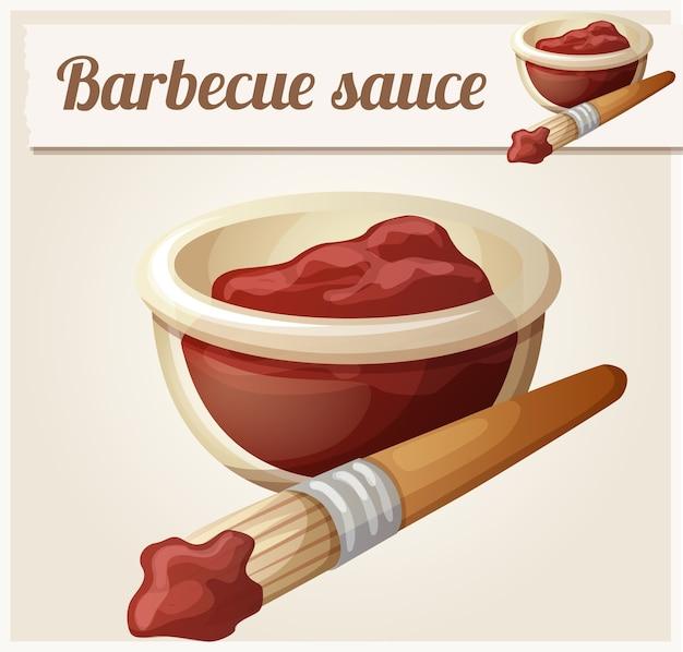 Salsa barbecue. icona dettagliata.