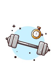 Illustrazione del bilanciere e del cronometro