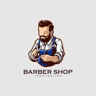 Barber shop barba uomo salone di acconciatura