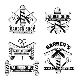 Logo del negozio di barbiere nel vettore