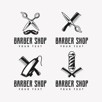 Logo del negozio di barbiere