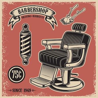 Modello di poster del negozio di barbiere