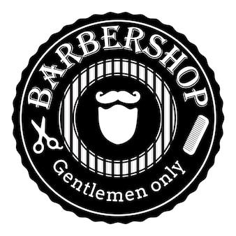 Logo retrò vintage del negozio di barbiere