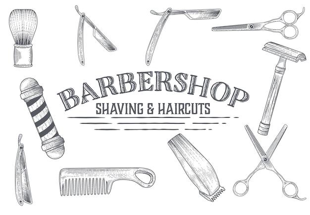 Banner disegnato a mano dal barbiere