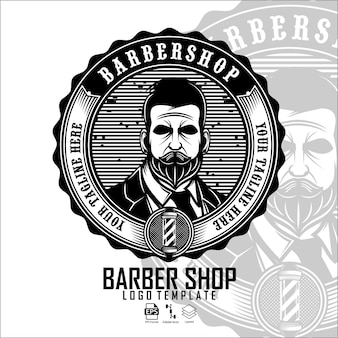 Modello logo barbershop