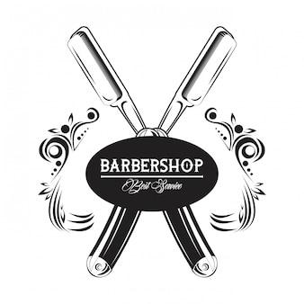 Emblema d'epoca barbiere