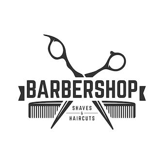 Modello di logo vintage barbiere