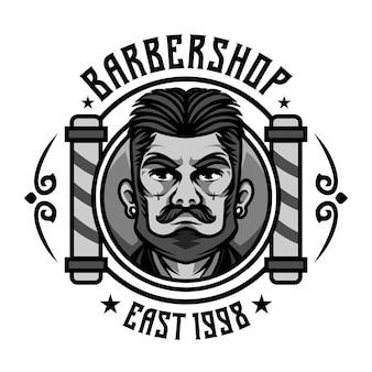 Logo vintage da saloni di parrucchiere