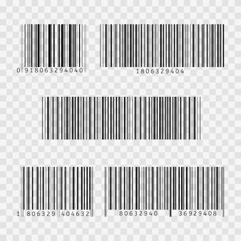Codice a barre piatto icona codice a barre segno sottile linea simbolo