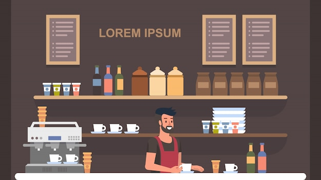 Barista coffe shop interior