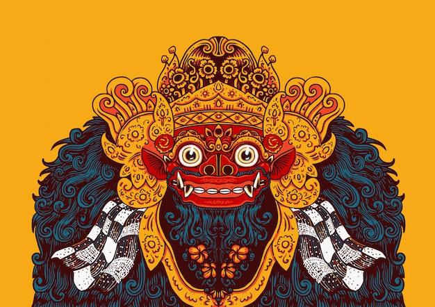 Barong di illustrazione balinese
