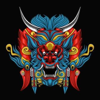 Illustrazione di barong dell'indonesia