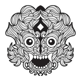 Illustrazione vettoriale di mandala barong
