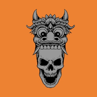 Barong & skull flat color