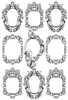 Set di cornici specchio barocco