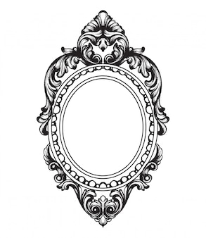Cornice dello specchio barocco