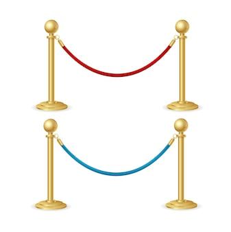 Corda barriera isolata.