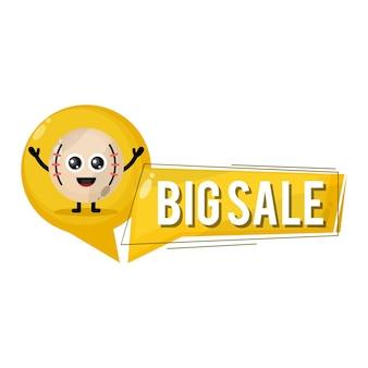 Grande vendita di baseball simpatico personaggio mascotte