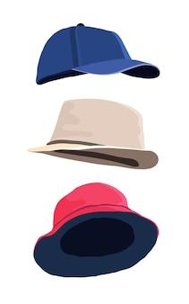 Berretto da baseball cappello rosso panama