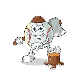 Illustrazione del carpentiere di baseball