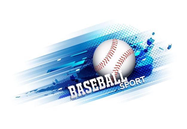 Manifesto del modello del torneo di concorrenza di baseball o disegno di vettore dell'insegna.