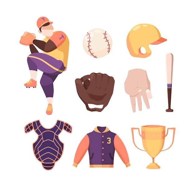 Set di attrezzature da baseball