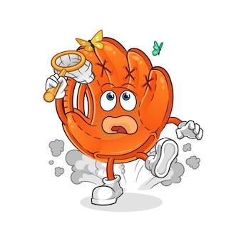 Illustrazione della farfalla della cattura del guanto da baseball