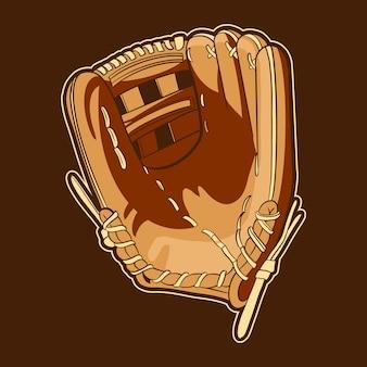 Oggetto di illustrazione di guanti da baseball