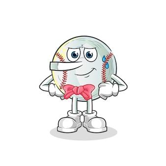 Bugia di baseball come illustrazione del personaggio di pinocchio