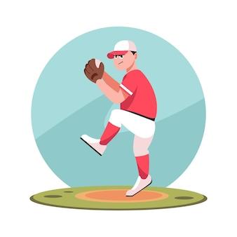 Giocatore di baseball che gioca