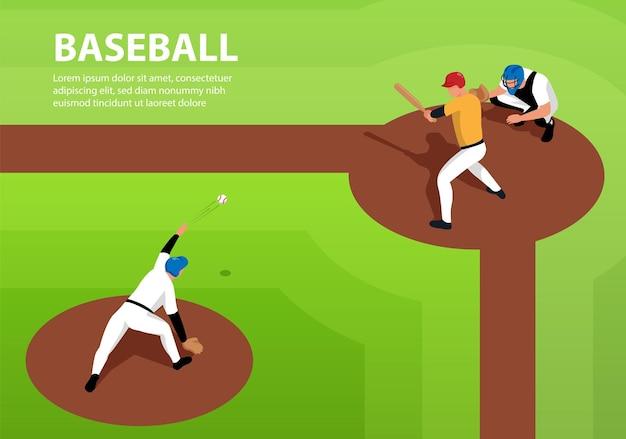 Sfondo di giocatori di baseball