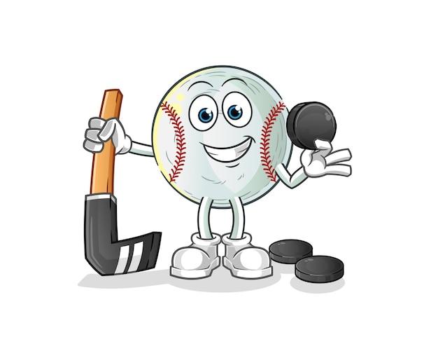 Baseball giocando a hockey illustrazione