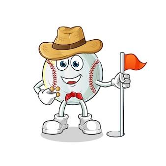 Illustrazione di baseball scout
