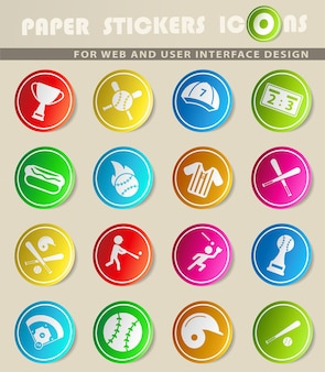 Semplice simbolo di baseball per le icone web e l'interfaccia utente