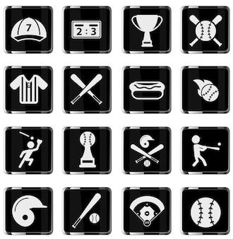 Baseball semplicemente simbolo per le icone web