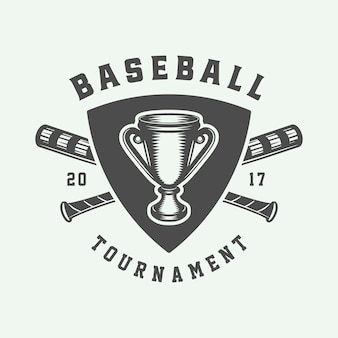 Logo sportivo da baseball, emblema