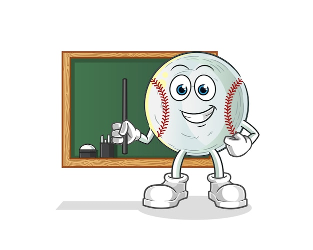 Illustrazione di insegnante di baseball