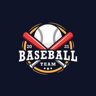 Design del logo della squadra di baseball