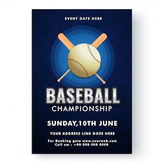 Modello di baseball o design flyer