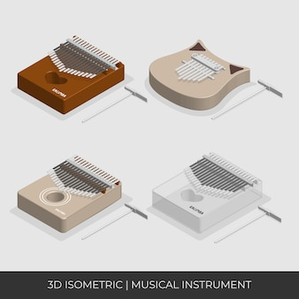 Set di kalimba isometrico basato
