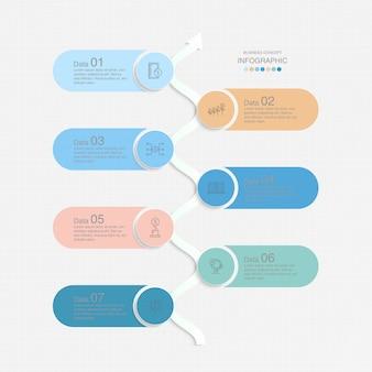 Modello di infografica di base