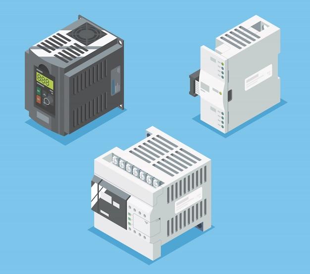 Apparecchiature di sistema di base plc progettate isometriche