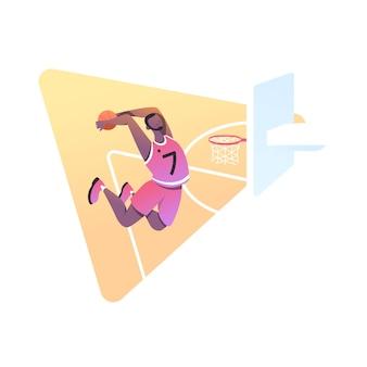 Atleti di basket isolati su bianco