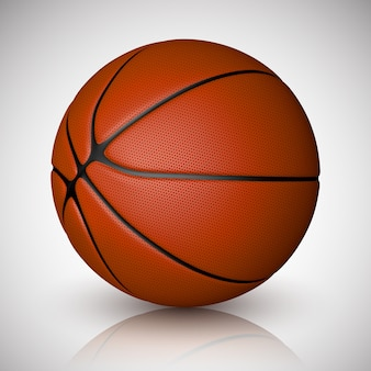 Palla da basket isolata. realistico