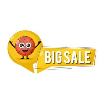 Grande vendita di basket mascotte simpatico personaggio