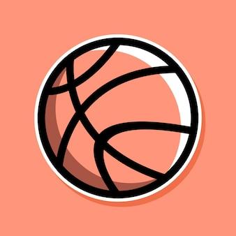 Disegno del fumetto di basket