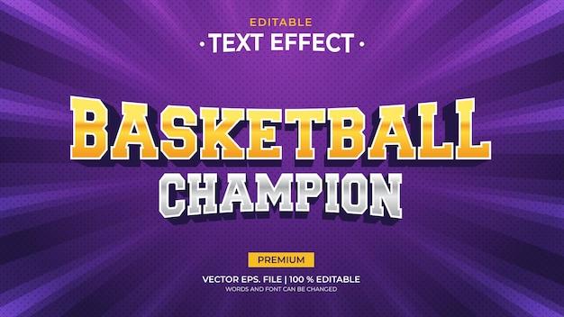 Effetti di testo modificabili campione di basket