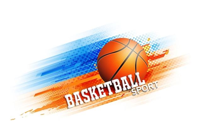 Manifesto del modello del torneo di concorrenza di pallacanestro o disegno vettoriale di banner.