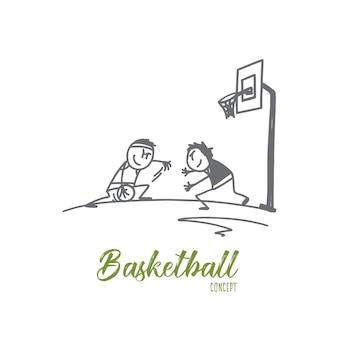 Illustrazione di concetto di pallacanestro